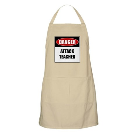 Danger: Attack Teacher BBQ Apron