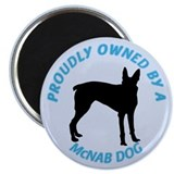"Proudly Owned McNab Dog 2.25"" Magnet (10 pack)"