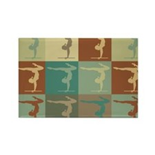Gymnastics Pop Art Rectangle Magnet