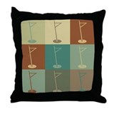 Golf Pop Art Throw Pillow
