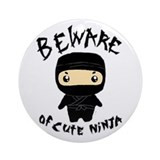 Cute Ninja Ornament (Round)