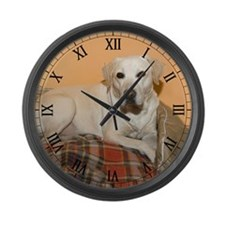 Yellow Labrador Retriever Dog Large Wall Clock