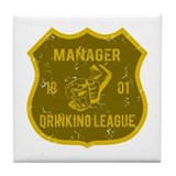 Manager Drinking League Tile Coaster