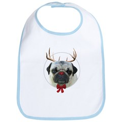 Rudolf the Pug Nosed Reindeer Bib