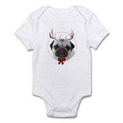 Rudolf the Pug Nosed Reindeer Infant Bodysuit