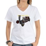 Rat Rods Rule! Women's V-Neck T-Shirt