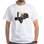 Rat Rods Rule! White T-Shirt