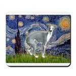 Starry Night/Italian Greyhoun Mousepad