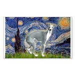 Starry Night/Italian Greyhoun Sticker (Rectangle)