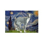 Starry Night/Italian Greyhoun Rectangle Magnet