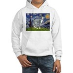 Starry Night/Italian Greyhoun Hooded Sweatshirt