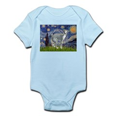 Starry Night/Italian Greyhoun Infant Bodysuit