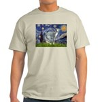 Starry Night/Italian Greyhoun Light T-Shirt