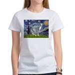 Starry Night/Italian Greyhoun Women's T-Shirt