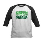 Green is the New Smart! Kids Baseball Jersey