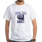 Muay Thai Addict White T-Shirt
