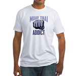 Muay Thai Addict Fitted T-Shirt