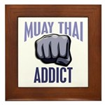 Muay Thai Addict Framed Tile