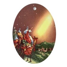 3 Wise Men Oval Ornament