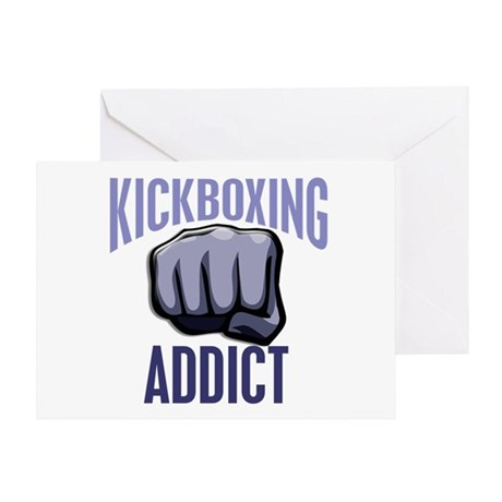 Kickboxing Addict Greeting Card