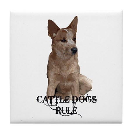 Cattle Dog (ACD) Tile Coaster