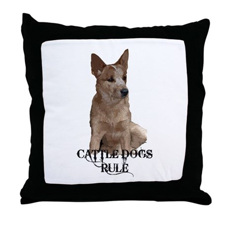 Cattle Dog (ACD) Throw Pillow