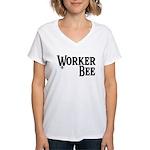 Worker Bee Women's V-Neck T-Shirt