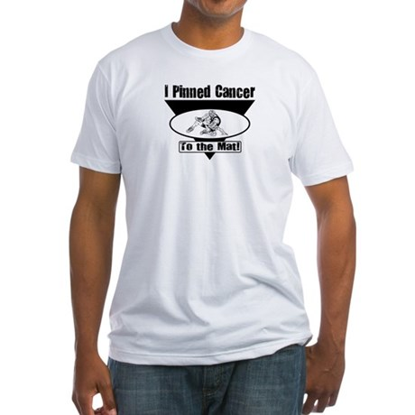 I Pinned Cancer Fitted T-Shirt