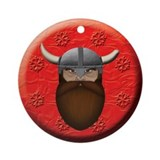 Dwarf Head Ornament (Round)