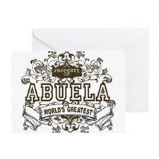 Property Of Abuela Greeting Card