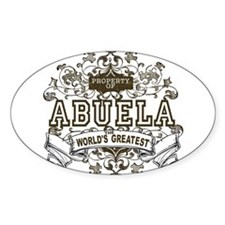 Property Of Abuela Oval Decal