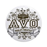 Property Of Avo Ornament (Round)