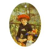 Renoir Oval Ornament