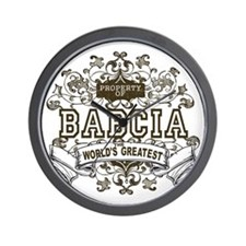 Property Of Babcia Wall Clock
