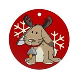 Cute little reindeer Ornament (Round)
