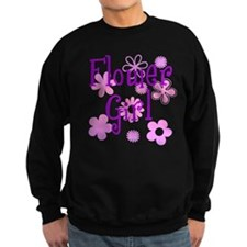 Pink and Purple Flower Girl Sweatshirt