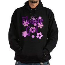 Pink and Purple Flower Girl Hoodie