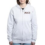 Anti-war Peace Letters Women's Zip Hoodie
