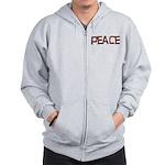 Anti-war Peace Letters Zip Hoodie