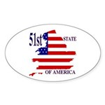 51st State of America Oval Sticker