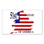 51st State of America Rectangle Sticker