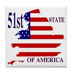 51st State of America Tile Coaster