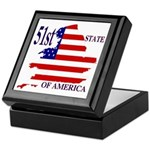 51st State of America Keepsake Box