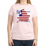 51st State of America Women's Pink T-Shirt