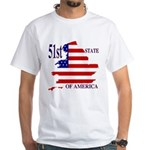 51st State of America White T-Shirt