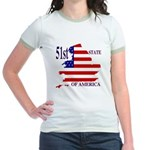 51st State of America Jr. Ringer T-Shirt