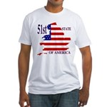 51st State of America Fitted T-Shirt