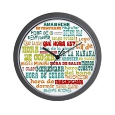 Cute Spanish language Wall Clock