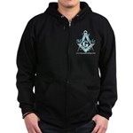 The Masonic Shop Logo Zip Hoodie (dark)