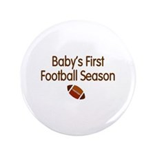"My First Football Season 3.5"" Button"